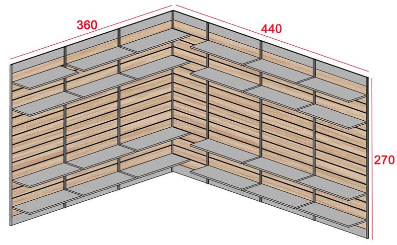 Cabina armadio sistema modulare economico con ganci for Economico per costruire piani domestici