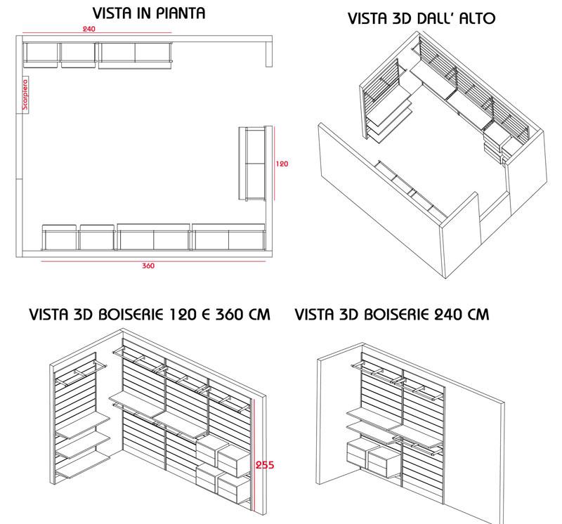 Cabina armadio sistema modulare economico con ganci for Piani di cabina di 800 piedi quadrati
